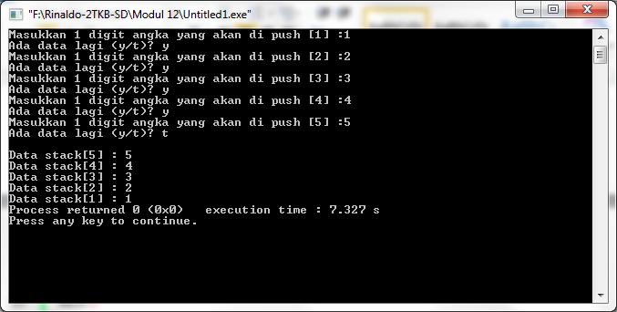 Laporan Struktur Data Modul 12 - Stack dengan Linked List